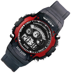 Mens Watch Quartz Digital Watch Men Sports Watches LED Digital Watch Red by japan