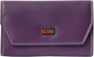 EL MIO Casual, Wedding, Party, Formal, Festive Multicolored 100Pure Genuine Leather Women Violet Designer Clutch Wallet