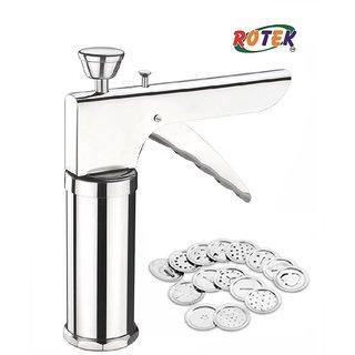 Rotek Heavy Duty Kitchen Press Sev Maker Machine with 12 Jally Auto Stop
