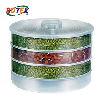Rotek Hygienic Sprout Maker For Multi-purpose Use with Three Compartments