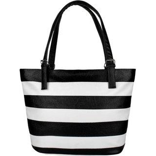 Clementine Black white Handbag (sskclem214)