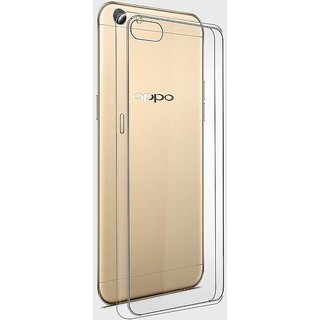 new styles 05f07 721a1 Macsoon Transparent Rubber Back Cover Compatible Model For Oppo F3 Plus