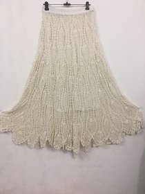 Handmade Crochet Skirt White