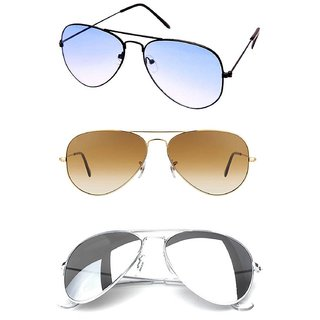 1054401cc9f6 Buy Pack of 3 Aviator Sunglasses Online - Get 68% Off