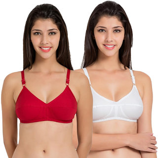 f2d9dfeae9 Buy Raj fashion white and red bra set of 2 Online - Get 53% Off