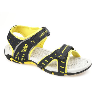 5f7ba4d89c28 Buy Paragon Stimulus Men s Blue Yellow Casual Sports Sandal Online ...