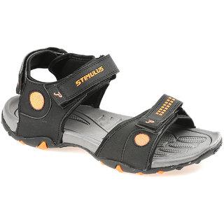 54557489363306 Buy Paragon Stimulus Men s Black Orange Sports Sandals Online ...
