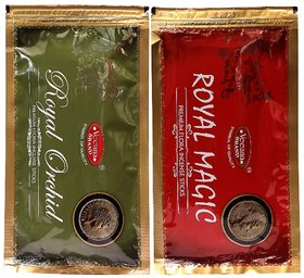 Veeana Combo of 2 Royal magic, Royal Orchid Zipper Pouches of Incesne Stick Each 140 gm