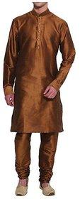 INYOUR BROWN Silk Kurta Pyjama Set Pack of 2