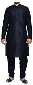 INYOUR Black Silk Kurta Pyjama Set Pack of 2