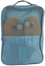 Rural Mart Waterproof Shoe Pouch (Teal Blue)