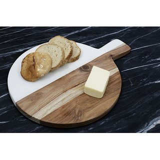 Bat Shaped Marble and Wood Chopping Board