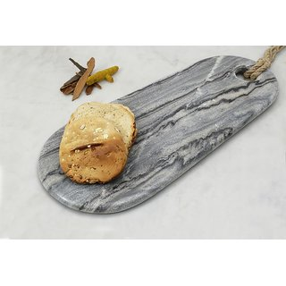 Grey Marble Oval Shaped Chopping Board