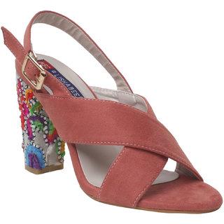 Msc Women'S Peach Stilettos