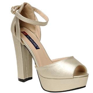 Msc Women'S Gold Stilettos