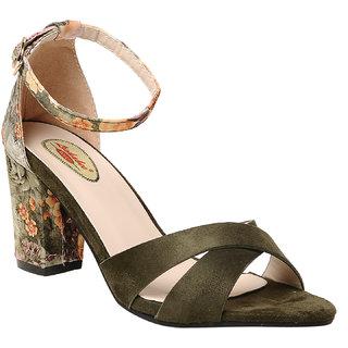 Msc Women'S Green Stilettos