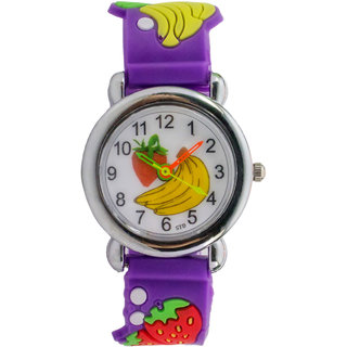 purple Analog Watch - For Kids By InstaDeal