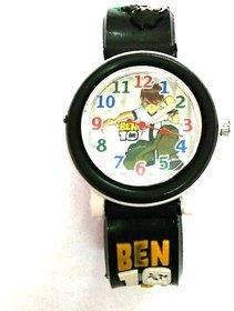 Kids Watch Black Round Dial Analog Ben10 Watch For Kids