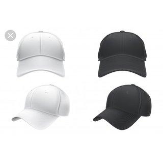 NEW black n white cap for girls(set of 2)