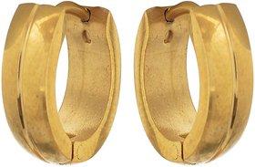 Sanaa Creations Mens Gold Bali Stainless Steel Earring