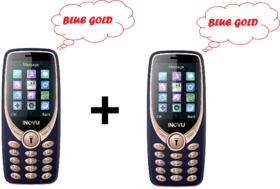 Inovu A9 - COMBO OF 2 (BLUE-GOLD) - (Dual Sim, 2.4 Inch