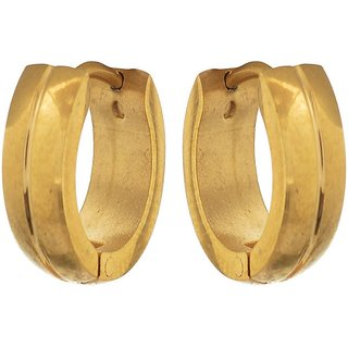 Sanaa Creations Mens Gold Bali Stainless Steel Earring