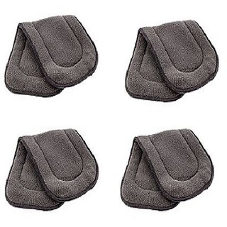 Kuhu Creations Washable Extra Thick 5 Layers Reusable Cloth Insert for Diaper/Nappy. (Grey, 4 Unit)