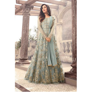 2507a006a916 Buy Salwar Soul Womens Designer Gray Color Long Gown With Fany Work For Party  Wear All Girls Womens Online - Get 63% Off