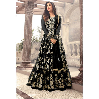 Buy Salwar Soul New Heavy Designer Party Wear Black Color Long Gown
