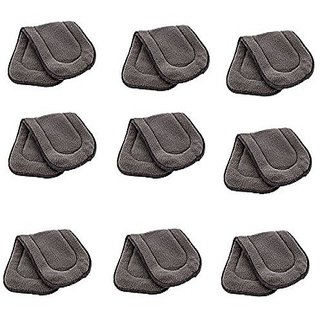Kuhu Creations Washable Extra Thick 5 Layers Reusable Cloth Insert for Diaper/Nappy. (Grey, 9 Unit)