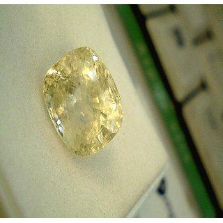 Yellow Sapphire 9.50 Ratti (Pukhraj) WITH Kachua Ring Jaipur Gemstone