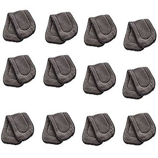 Kuhu Creations Washable Extra Thick 5 Layers Reusable Cloth Insert for Diaper/Nappy. (Grey, 12 Unit)