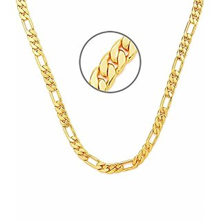 Gold Plated 20' inch Sachin Chain for Men by Sparkling Jewellery