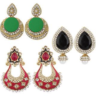 Jewels Guru Exclusive Combo 3 Earrings. 1 9 17 m1