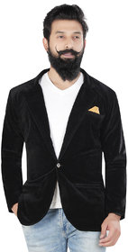 Trustedsnap Casual Black Solid Balzer For Men's