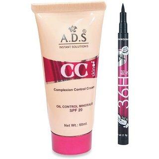 ADS CC Cream with Sketch Pen Eyeliner