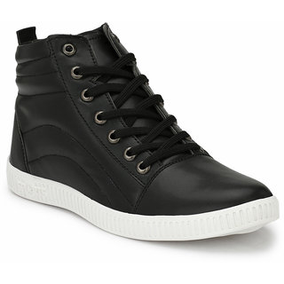 Prolific Mens Black Lace-up Casual Shoes