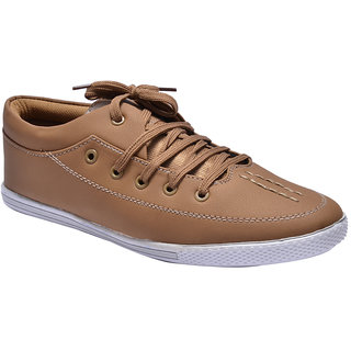 Prolific Mens Tan Lace-up Casual Shoes