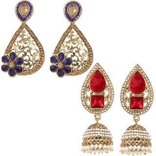 Jewels Guru Exclusive Combo 2 Earrings. 1 9 17 m11