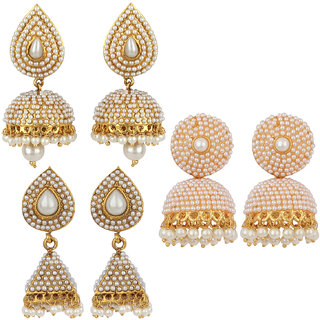 Jewels Guru Exclusive Combo 3 Earrings. 1 9 17 m12