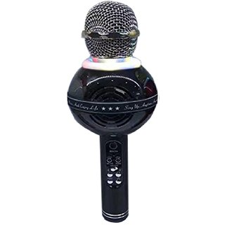 WS-878 Bluetooth Microphone Recording Condenser Black Microphone Stand with Bluetooth Speaker Audio Recording for Cellphone Microphone