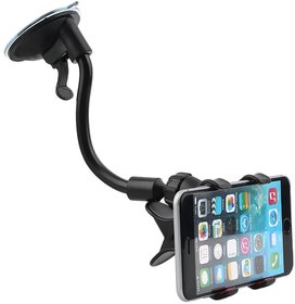 Soft Tube Car Mobile Holder Stand With Multi Angle 360 Degree Rotating Clip For Car Windshield / Dashboard / Table / Desk Style Code 42