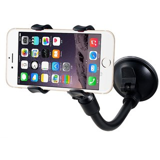 Tube Mobile Holder With Multi-Angle 360 Degree Rotating Clip, Windshield Dashboard Smartphone Car Holder For Mobile Phone Samsung Galaxy J7 Max (Assorted Color) Style Code-25