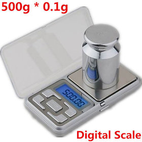 Evershine 500g  0.1g LCD Pocket Jewelry Cell Phone scales electronic digital s