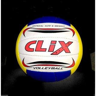 BEST IDEAS CLIX HIGH QUALITY MADE IN INDIA VOLLEYBALL WITH OFFICIAL SIZE WEIGHT FOR YOU