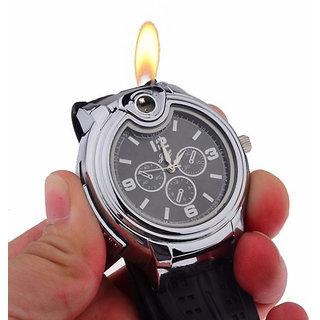 PIA INTERNATIONAL New Novelty Watch Refillable Butane Gas Cigarette Cigar Lighter