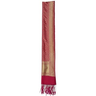 CRAFTZEN Women's Art Silk Dupatta (Maroon)