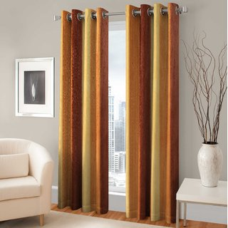 BSB Trendz Long Crush Single   Long Door Curtain 4x9 Feet
