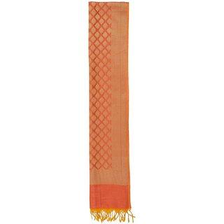 CRAFTZEN Women's Art silk Dupatta (Orange)