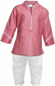 Tumble Pink Full Sleeves Kurta  Pyjama Set